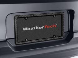 Exteriors Accessories/Necessities - Accessories-Steps/Running Boards/Rails/Bed Lights/Grill Covers - WeatherTech - WeatherTech Carbon Fiber License Plate Frame (Universal)