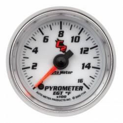 "Gauges & Pods - Gauges  - Auto Meter - Auto Meter C-2 Series Pyrometer 2-1/16"" 0-1600 °F, Stepper Motor (Universal)"