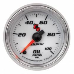 "Gauges & Pods - Gauges  - Auto Meter - Auto Meter C-2 Series Oil Pressure  2-1/16""0-100 PSI, Stepper Motor (Universal)"
