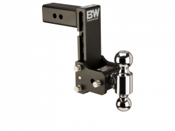 "2017-2020- L5P VIN Code Y - Hitches/Receivers - B & W Hitches - B&W Tow & Stow Receiver Hitch, Dual Ball (2"" & 2-5/16"") 7"" Drop / 7.5"" Rise (Universal)"