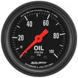 "2017-2020- L5P VIN Code Y - Gauges & Pods - Auto Meter - Auto Meter Z-Series, Oil Pressure, 2-1/16"",  0-100 PSI, Mechanical (Universal)"