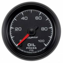 "Gauges & Pods - Gauges - Auto Meter - Auto Meter  ES Series, 2 1/16"" Gauge, Oil Pressure 0-100 PSI, Stepper Motor (Universal)"