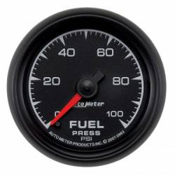 "Gauges & Pods - Gauges  - Auto Meter - Auto Meter  ES Series, 2 1/16"" Gauge, Fuel Pressure, 0-100 PSI, Stepper Motor (Universal)"
