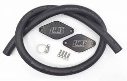 "2011-2016 LML VIN Code 8 - 3"" Y-Bridge/EGR/PCV Reroute Kits - Lincoln Diesel Specialities - LDS PCV Reroute Kit with Resonator Plug (2011)"
