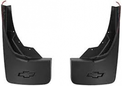 Exteriors Accessories/Necessities - Mud Flaps/Splash Guards - GM - GM OEM Molded Rear Splash Guards (Black)(w/ Bowtie Logo) (2014-2019)