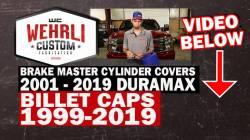 Wehrli Custom Fabrication - Wehrli Custom Fab 1999-2019 GM 1500/2500/3500 Billet Aluminum Brake Master Cylinder Cap, Clear Anodized - Image 2