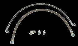 Wehrli Custom Fabrication - Wehrli Custom Fab 2001-2010 LB7/LLY/LBZ/LMM DuramaxTwin Turbo Oil Line Kit (S400)