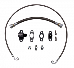 Turbo - Install Kits - Wehrli Custom Fabrication - Wehrli Custom Fab 2011-2016 LML Duramax S300 Single Turbo Oil Line Kit