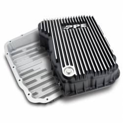 Transmissions - Pans, Shafts, Housings - PPE - PPE Dodge/Cummins Transmission Pan 68RFE Flat Bottom (Brushed) (2007.5-2021)